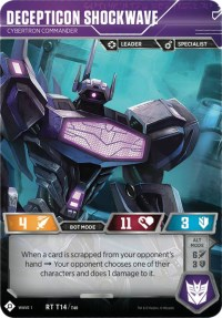Decepticon Shockwave - Cybertron Commander (Foil)