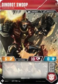 Dinobot Swoop - Fearsome Flyer, Transformers TCG, Wave 1