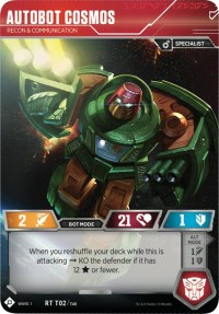 Autobot Cosmos - Recon & Communication, Transformers TCG, Wave 1