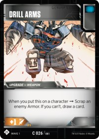 Drill Arms, Transformers TCG, Wave 1