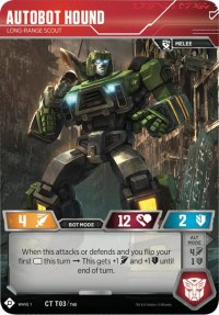 Autobot Hound - Long-Range Scout, Transformers TCG, Wave 1