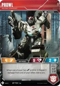Prowl - Military Strategist, Transformers TCG, Wave 1