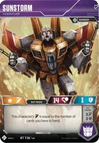 Sunstorm - Fusion Flyer, Transformers TCG, Wave 1