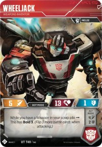 Wheeljack - Weapons Inventor, Transformers TCG, Wave 1