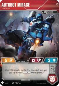 Autobot Mirage - Lone Wolf, Transformers TCG, Wave 1