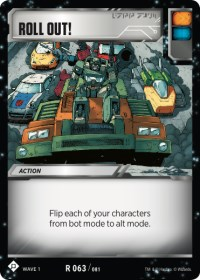 Roll Out!, Transformers TCG, Wave 1