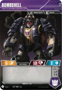 Bombshell - Insecticon Mind-Controller, Transformers TCG, Wave 1