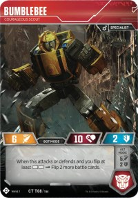 Bumblebee - Courageous Scout, Transformers TCG, Wave 1