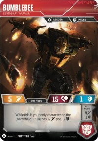 Bumblebee - Legendary Warrior, Transformers TCG, Wave 1