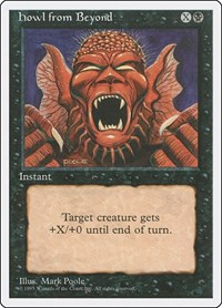 Howl from Beyond, Magic: The Gathering, Fourth Edition