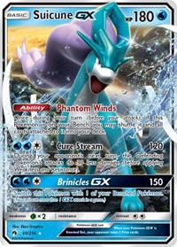 Suicune GX, Pokemon, SM - Lost Thunder