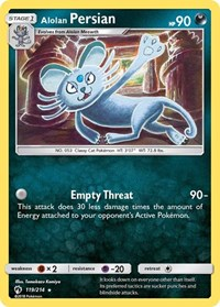 Alolan Persian, Pokemon, SM - Lost Thunder