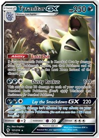 Tyranitar GX, Pokemon, SM - Lost Thunder