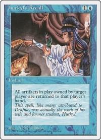 Hurkyl's Recall, Magic: The Gathering, Fourth Edition