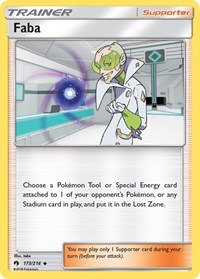 Faba, Pokemon, SM - Lost Thunder