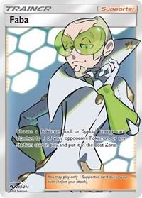 Faba (Full Art), Pokemon, SM - Lost Thunder