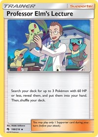 Professor Elm's Lecture, Pokemon, SM - Lost Thunder