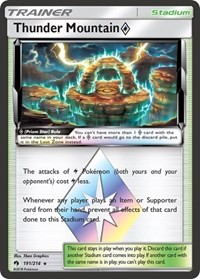Thunder Mountain Prism Star, Pokemon, SM - Lost Thunder