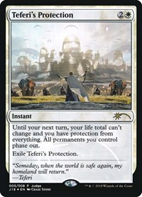 Teferi's Protection (J18), Magic: The Gathering, Judge Promos