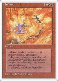 Inferno, Magic: The Gathering, Fourth Edition