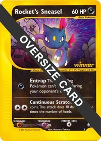 Rocket's Sneasel - 5 (Best of Game 5 Promo), Pokemon, Jumbo Cards