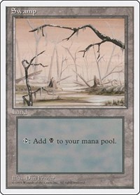 Swamp (B), Magic: The Gathering, Fourth Edition