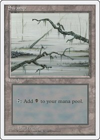 Swamp (C), Magic: The Gathering, Fourth Edition