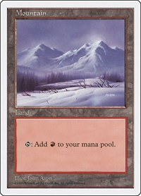 Mountain (442), Magic: The Gathering, Fifth Edition