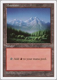 Mountain (443), Magic: The Gathering, Fifth Edition