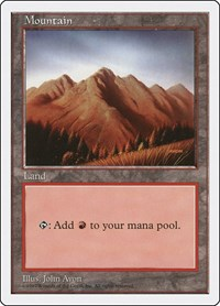 Mountain (444), Magic: The Gathering, Fifth Edition