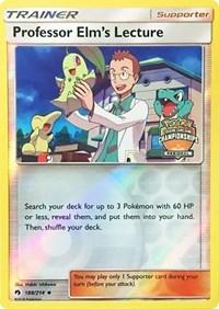 Professor Elm's Lecture - 188/214 (Regional Championship Promo), Pokemon, League & Championship Cards