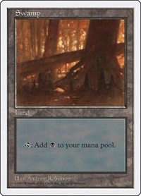 Swamp (440), Magic: The Gathering, Fifth Edition