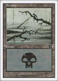 Swamp (340), Magic: The Gathering, Classic Sixth Edition