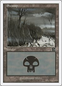 Swamp (341), Magic: The Gathering, Classic Sixth Edition