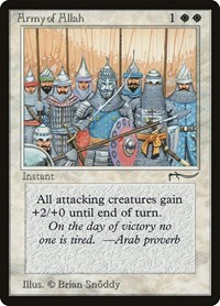 Army of Allah (Light), Magic: The Gathering, Arabian Nights