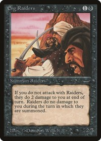 Erg Raiders (Light), Magic: The Gathering, Arabian Nights
