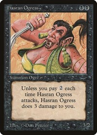 Hasran Ogress (Light), Magic: The Gathering, Arabian Nights
