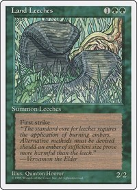 Land Leeches, Magic, Fourth Edition