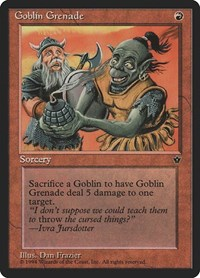 Goblin Grenade (Frazier), Magic: The Gathering, Fallen Empires