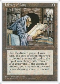 Library of Leng, Magic: The Gathering, Fourth Edition