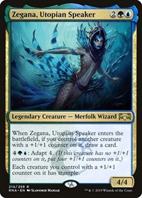 Zegana, Utopian Speaker, Magic: The Gathering, Ravnica Allegiance