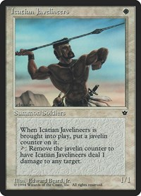 Icatian Javelineers (Beard Jr.), Magic: The Gathering, Fallen Empires