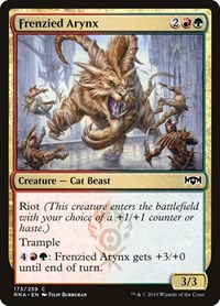 Frenzied Arynx, Magic: The Gathering, Ravnica Allegiance