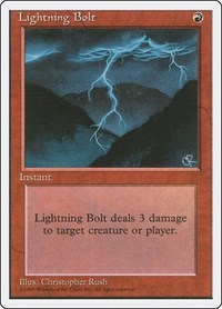 Lightning Bolt, Magic: The Gathering, Fourth Edition