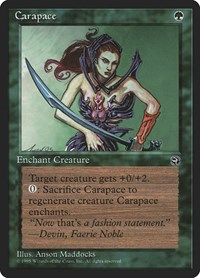 Carapace [Version 2], Magic: The Gathering, Homelands