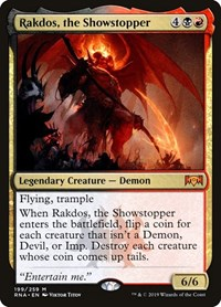 Rakdos, the Showstopper, Magic: The Gathering, Ravnica Allegiance