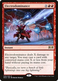 Electrodominance, Magic: The Gathering, Ravnica Allegiance