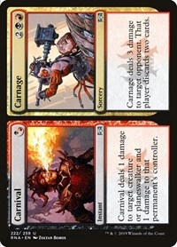 Carnival // Carnage, Magic: The Gathering, Ravnica Allegiance