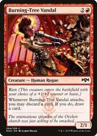 Burning-Tree Vandal, Magic: The Gathering, Ravnica Allegiance