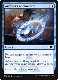 Arrester's Admonition, Magic: The Gathering, Ravnica Allegiance
